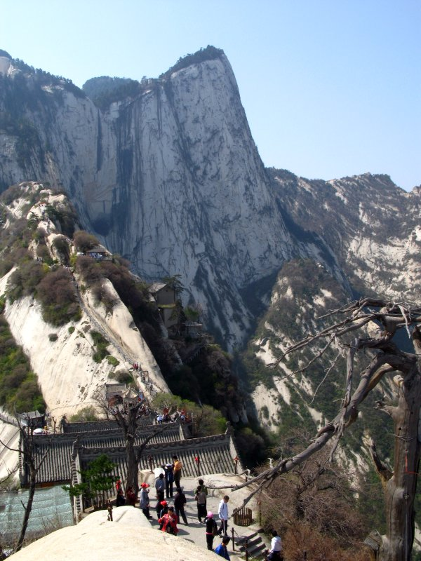 Looking down from northern peak of mount Hua