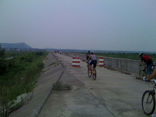 Biking Along the Levee in Zhejiang