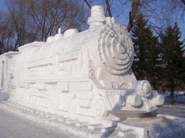 Snow train near Harbin